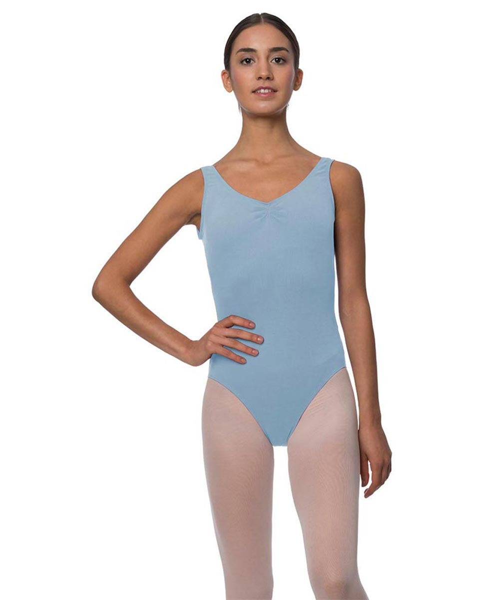 Adults Pinch Front and Low Back Tank Dance Leotard Luna SKY