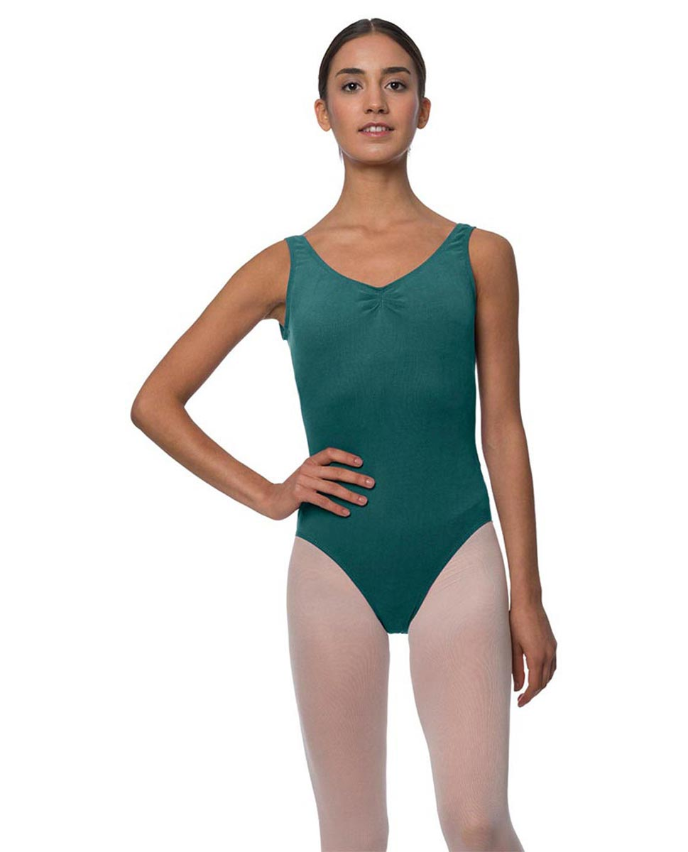 Adults Pinch Front and Low Back Tank Dance Leotard Luna TEA