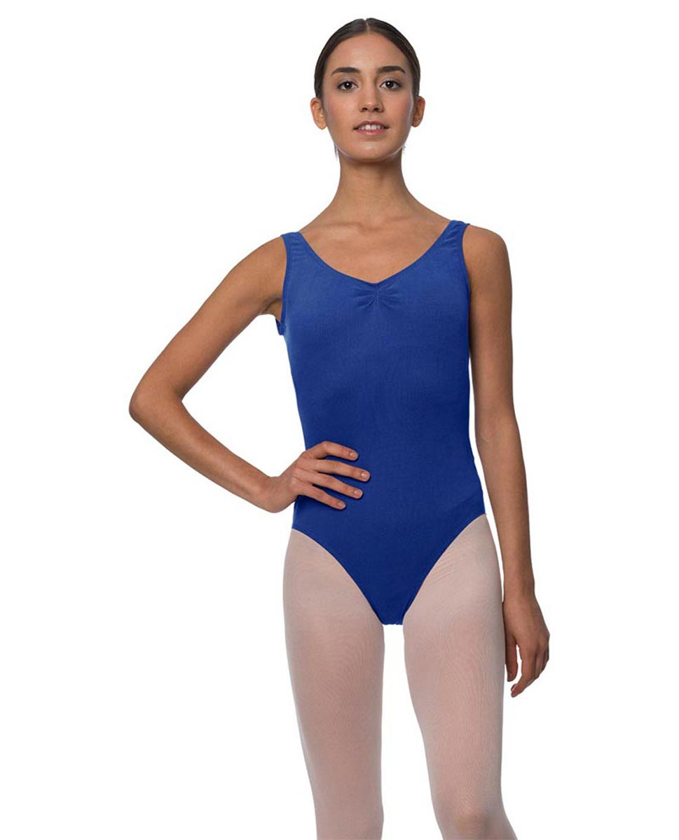 Adults Pinch Front and Low Back Tank Dance Leotard Luna UMA