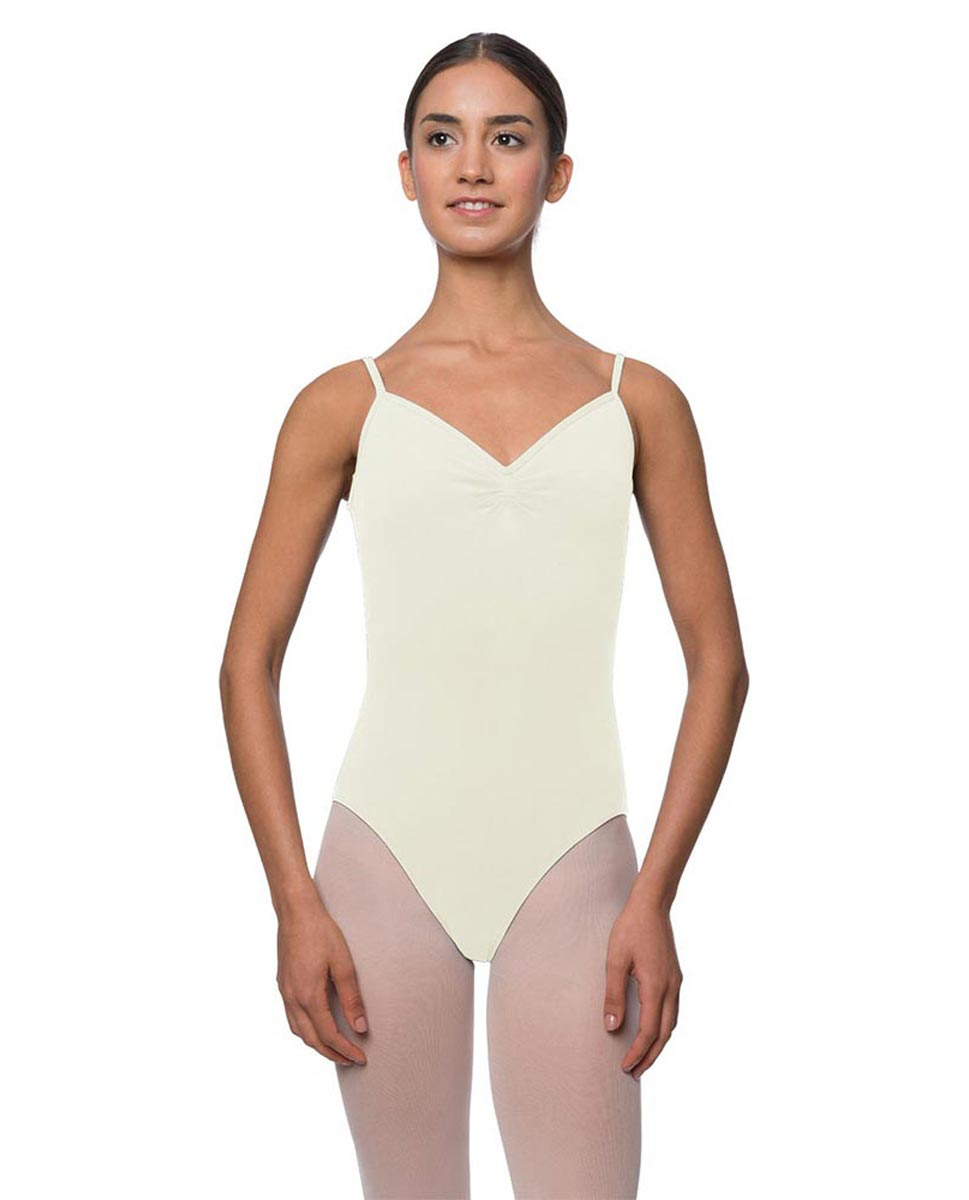 Womens Gathered Camisole Ballet Leotard Lourdes IVOR