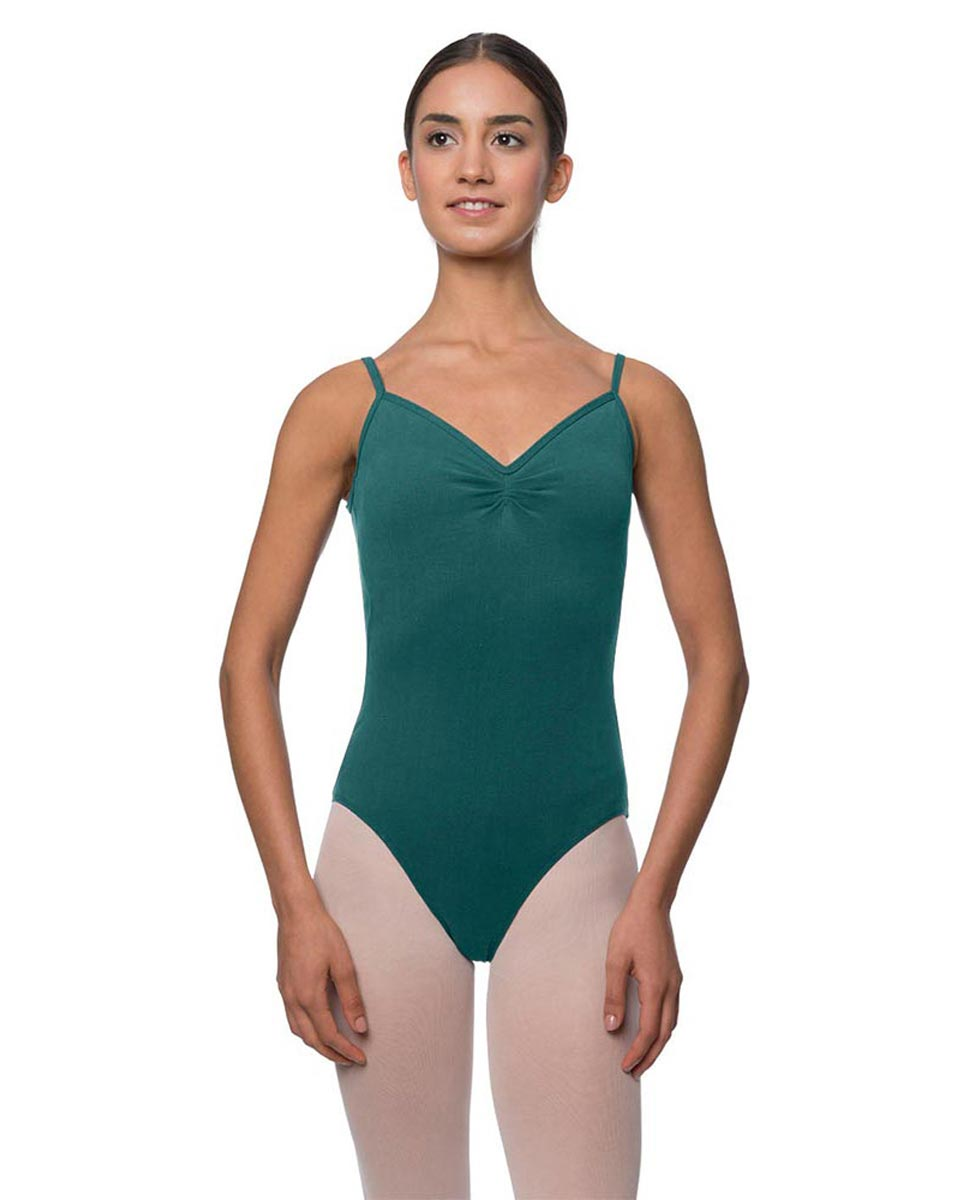 Womens Gathered Camisole Ballet Leotard Lourdes TEA