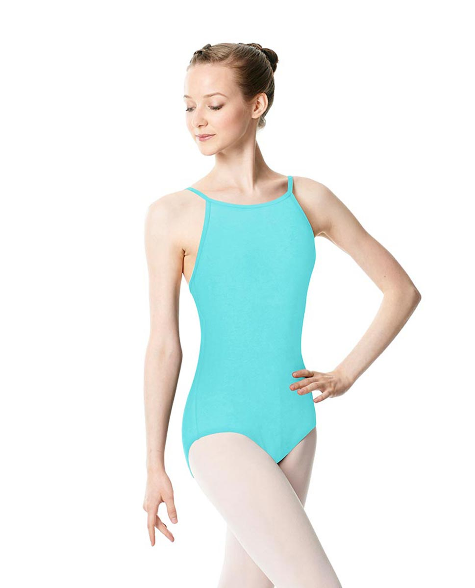 Adults High Jewel Neck Camisole Ballet Leotard Calla AQU