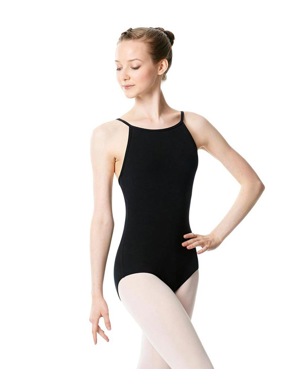 Adults High Jewel Neck Camisole Ballet Leotard Calla BLK