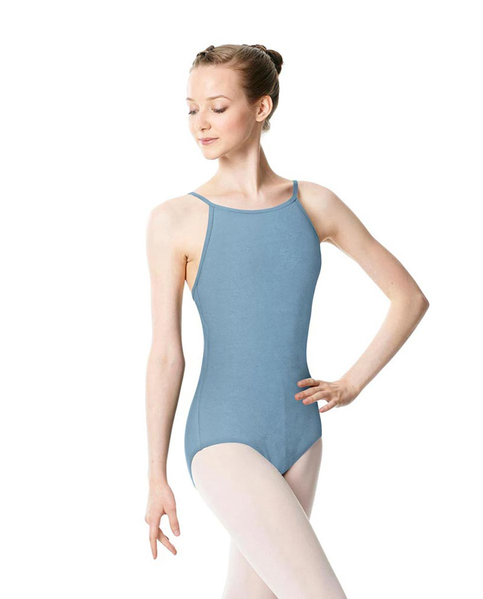 Adults High Jewel Neck Camisole Ballet Leotard Calla SKY
