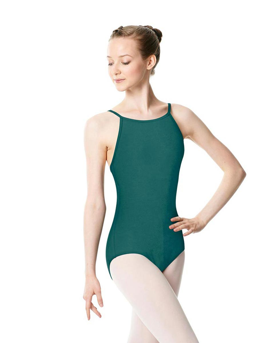 Adults High Jewel Neck Camisole Ballet Leotard Calla TEA