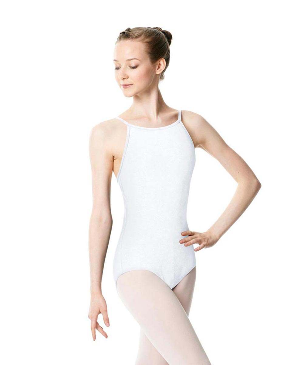 Adults High Jewel Neck Camisole Ballet Leotard Calla WHI