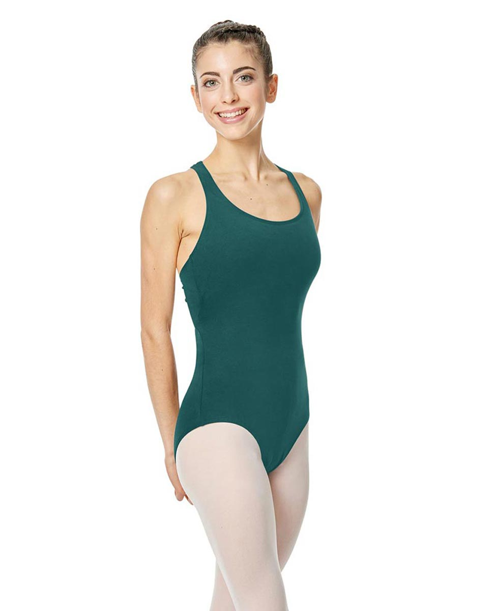 Adults Racerback Keyhole Tank Ballet Leotard Ember TEA