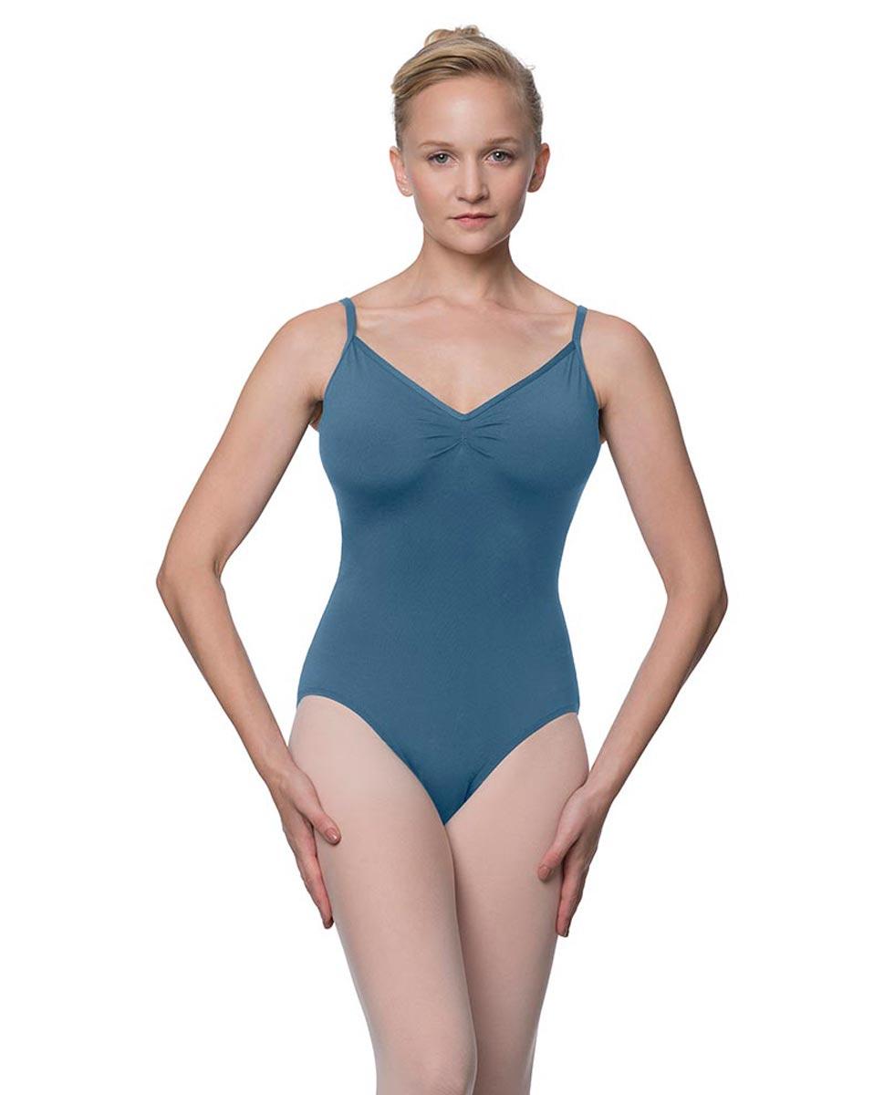 Womens V-Back Camisole Ballet Leotard Malinda BLUE