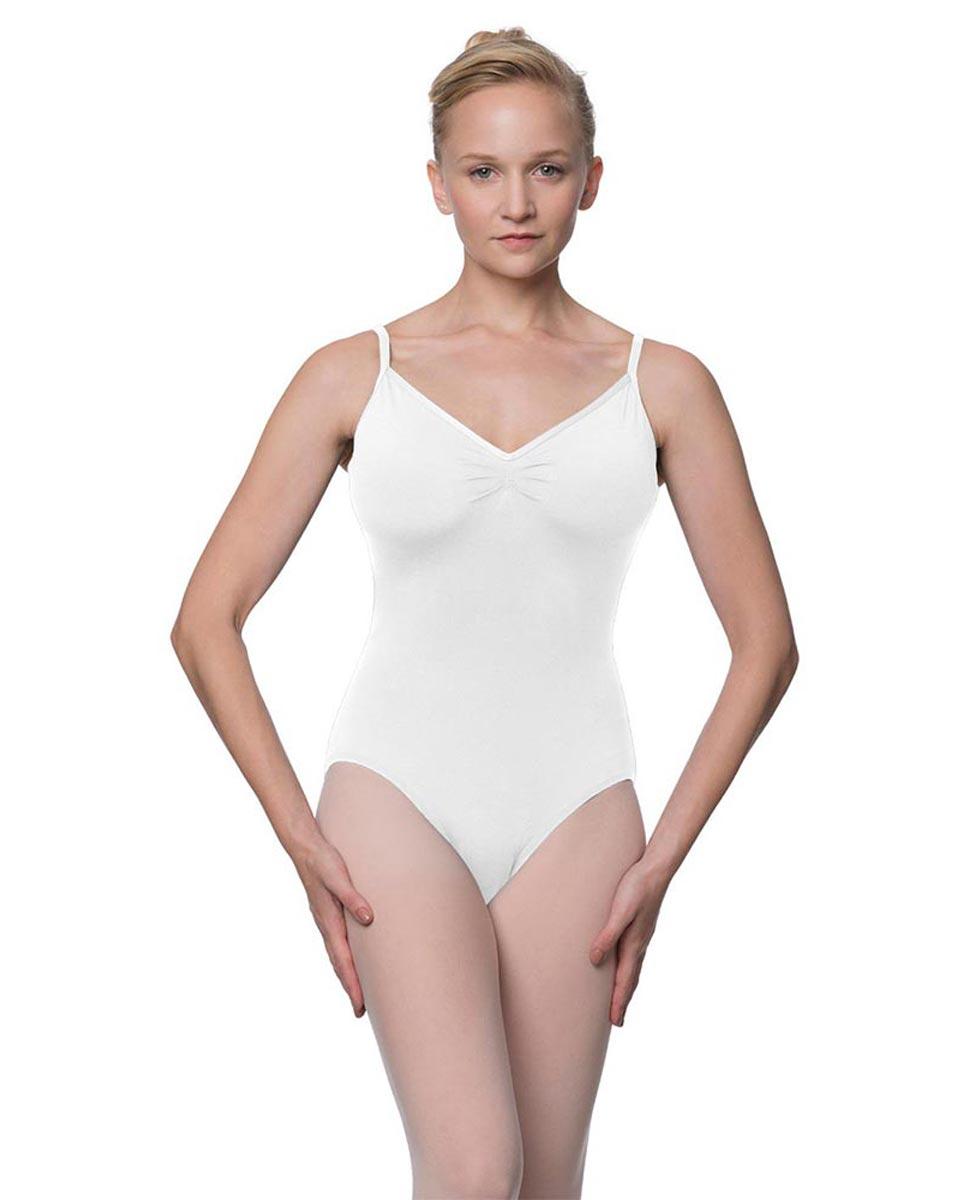 Womens V-Back Camisole Ballet Leotard Malinda WHI