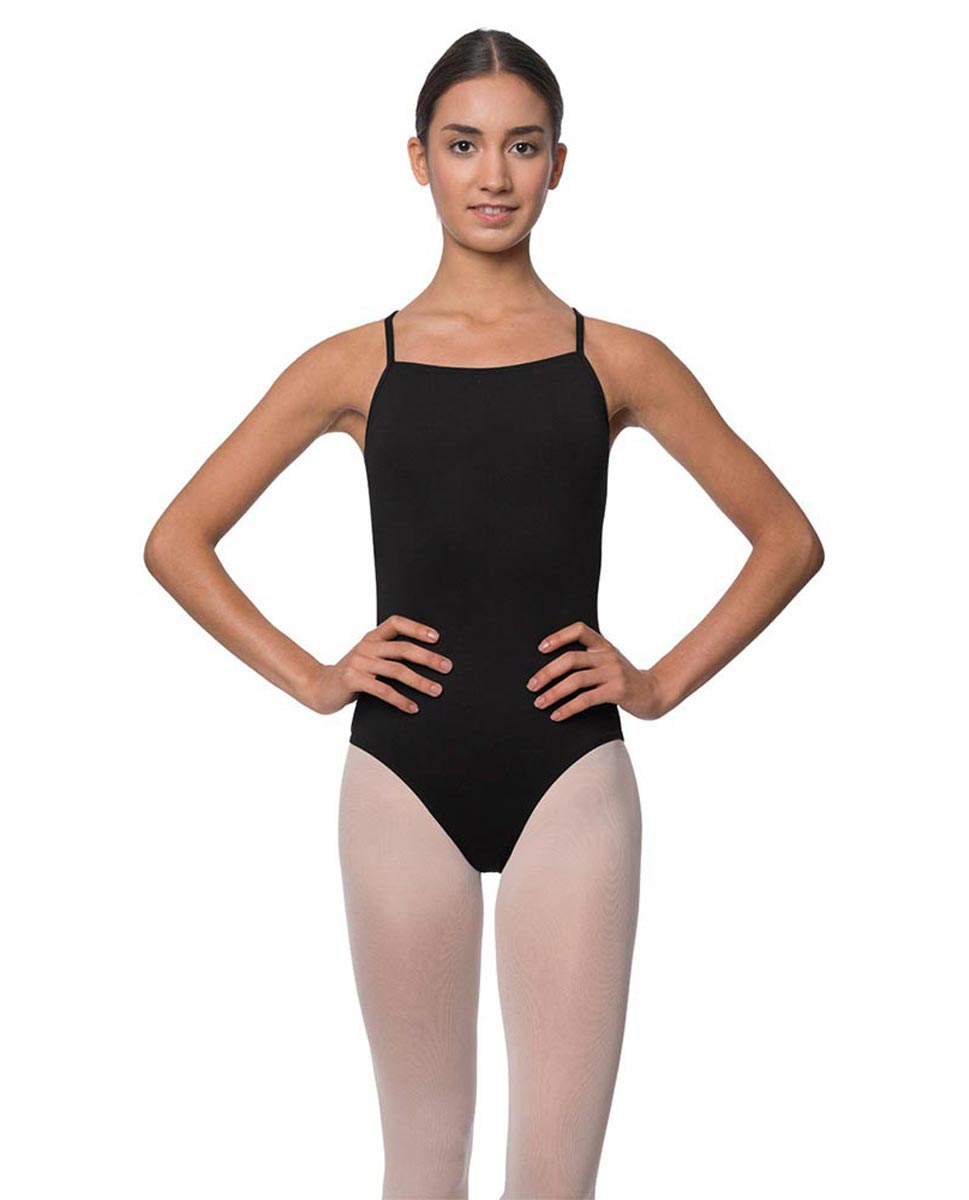Adults Camisole Deep X-Back Ballet Leotard Raine BLK