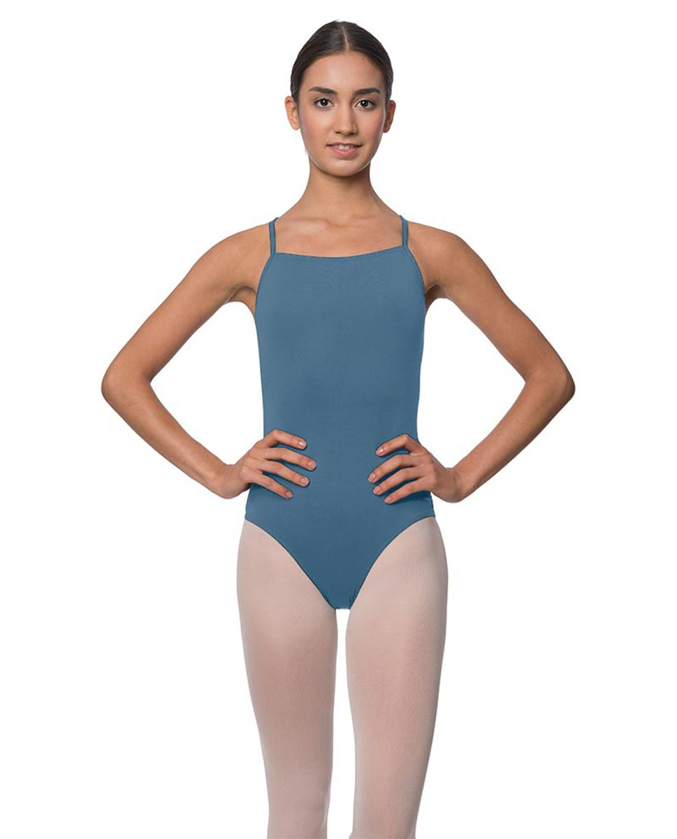 Adults Camisole Deep X-Back Ballet Leotard Raine BLUE