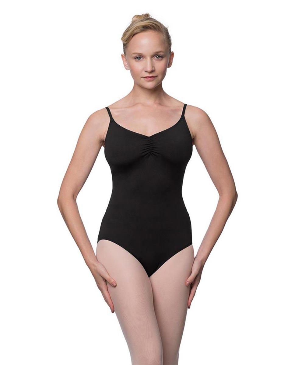 Womens Adjustable Straps Camisole Ballet Leotard Nadia BLK