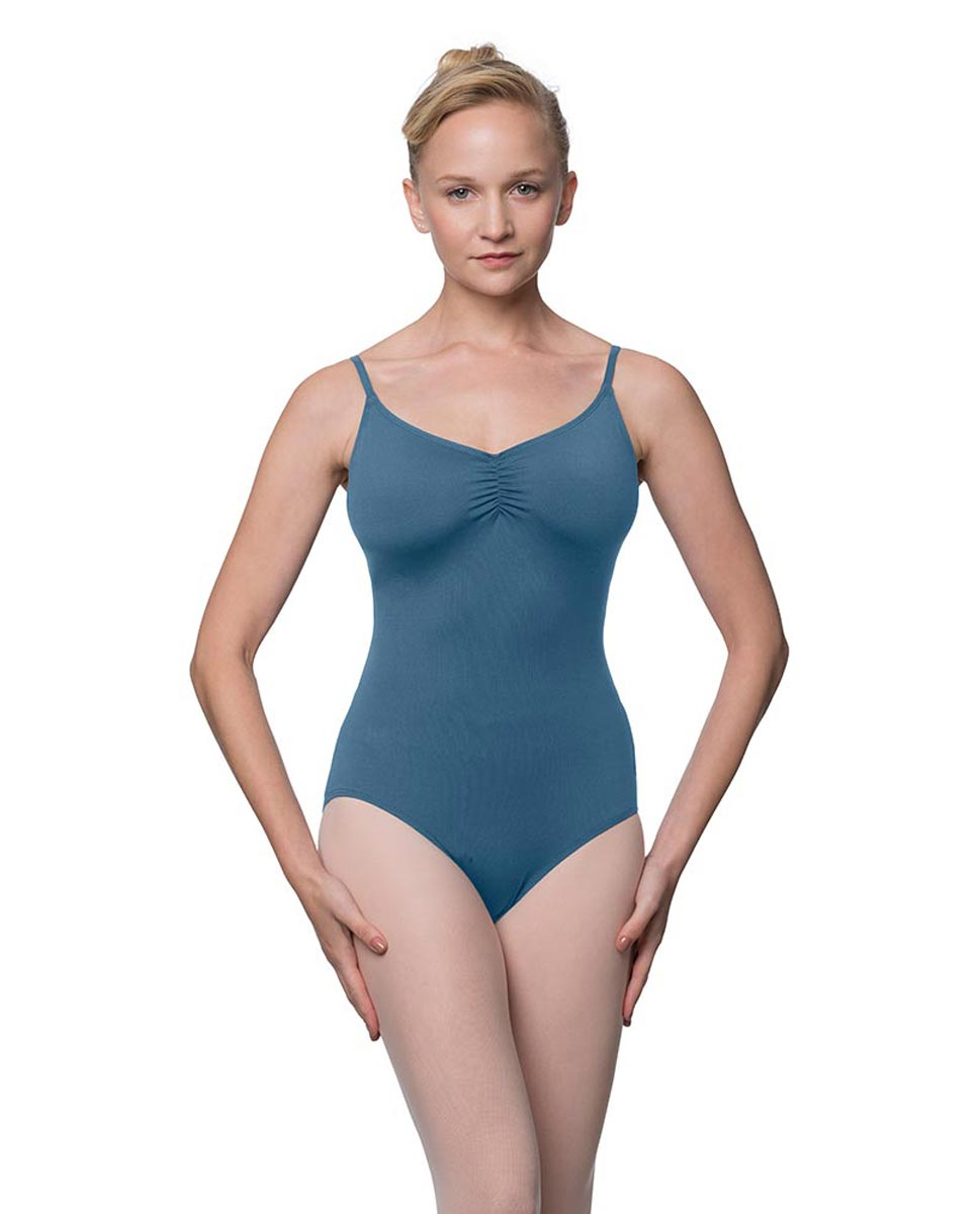 Womens Adjustable Straps Camisole Ballet Leotard Nadia BLUE