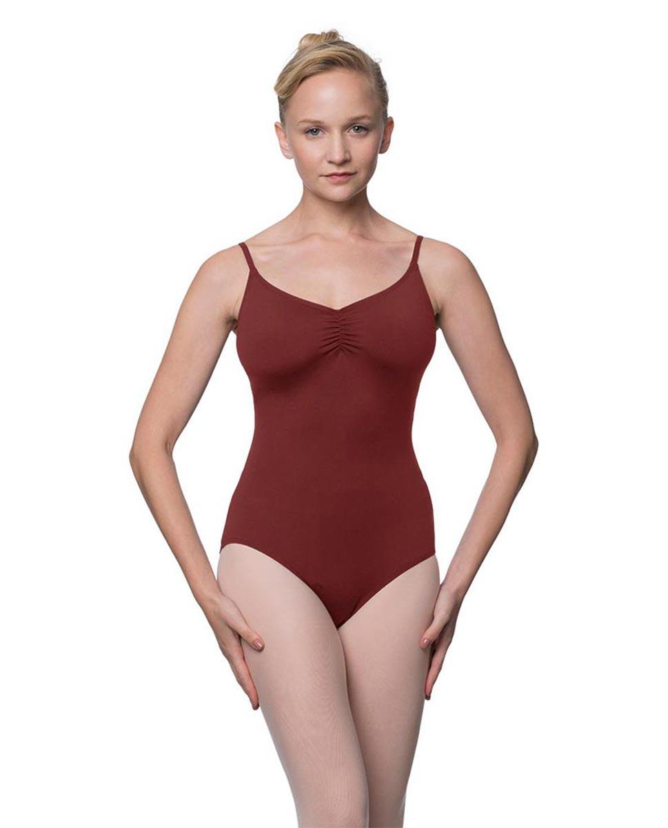 Womens Adjustable Straps Camisole Ballet Leotard Nadia BUR
