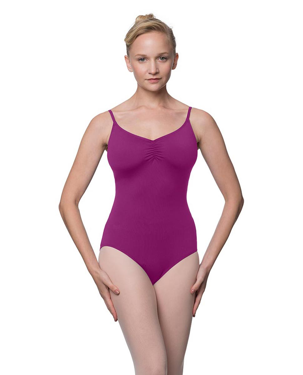 Womens Adjustable Straps Camisole Ballet Leotard Nadia GRAP