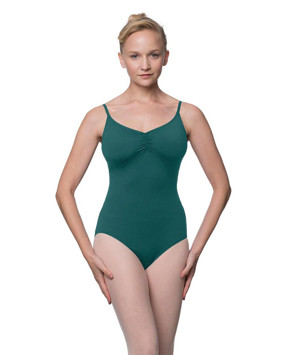 Womens Adjustable Straps Camisole Ballet Leotard Nadia TEA
