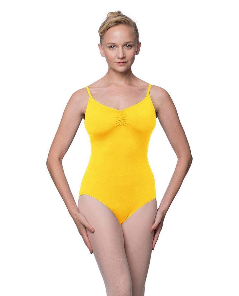 Womens Adjustable Straps Camisole Ballet Leotard Nadia YEL