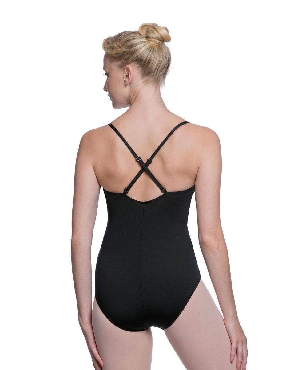 Womens Adjustable Straps Camisole Ballet Leotard Nadia back