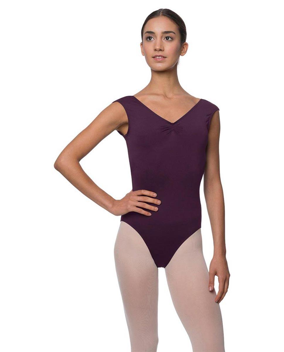 Womens Pinch Front Cap Sleeve Ballet Leotard Reyton AUB