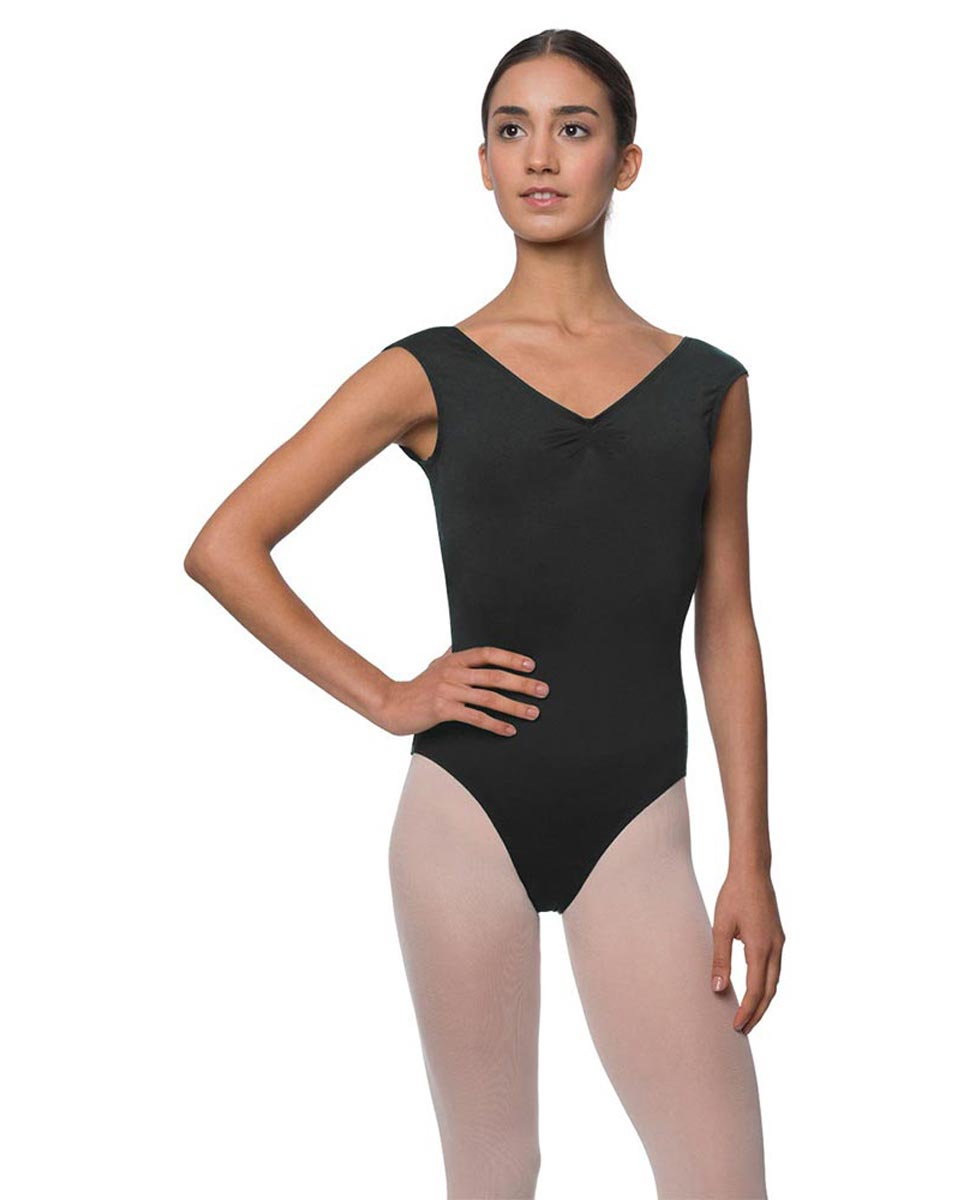 Womens Pinch Front Cap Sleeve Ballet Leotard Reyton DGRE