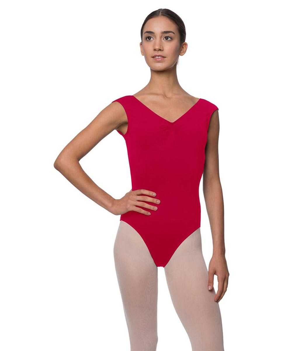 Womens Pinch Front Cap Sleeve Ballet Leotard Reyton DRED