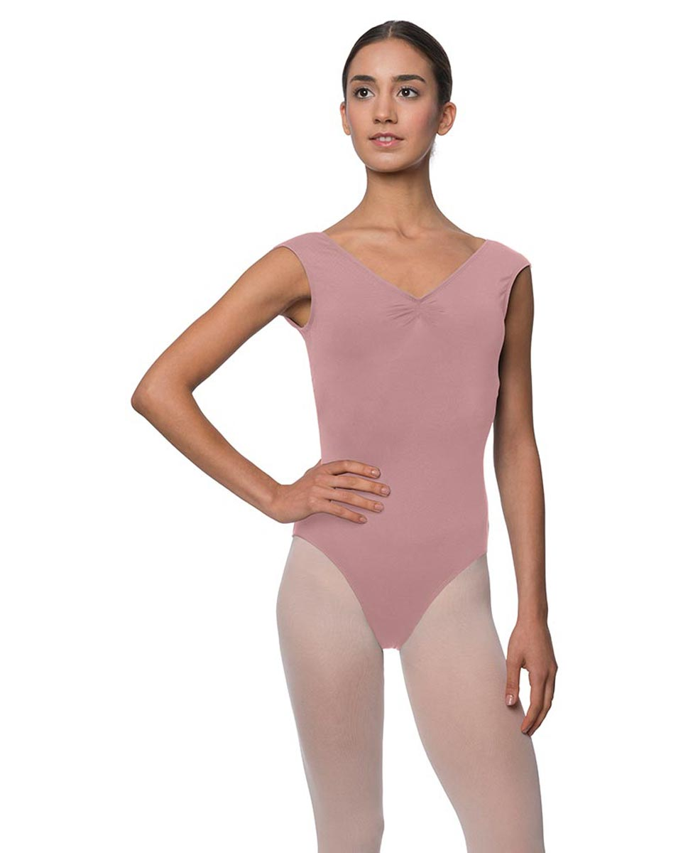 Womens Pinch Front Cap Sleeve Ballet Leotard Reyton DROS