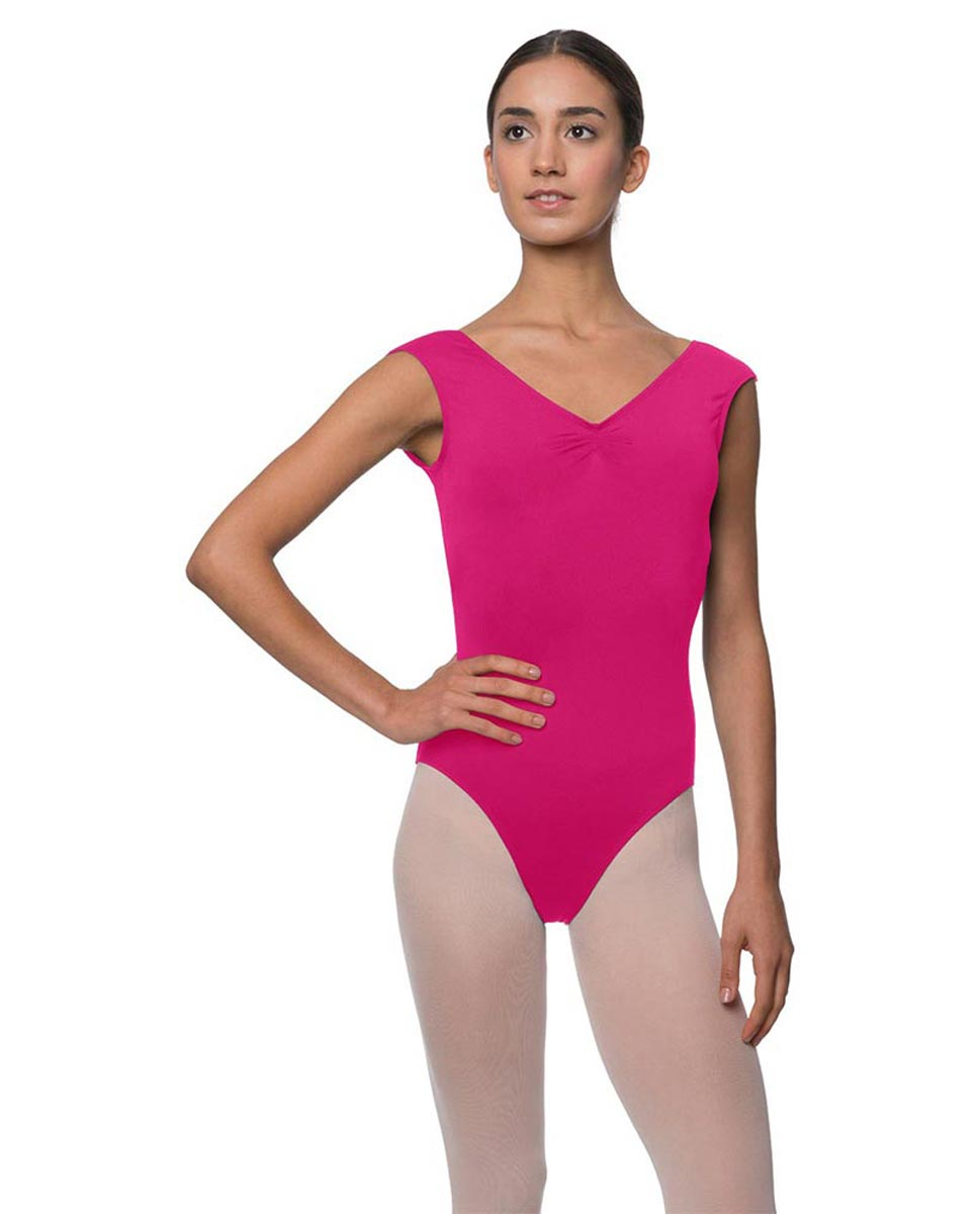 Womens Pinch Front Cap Sleeve Ballet Leotard Reyton FUC