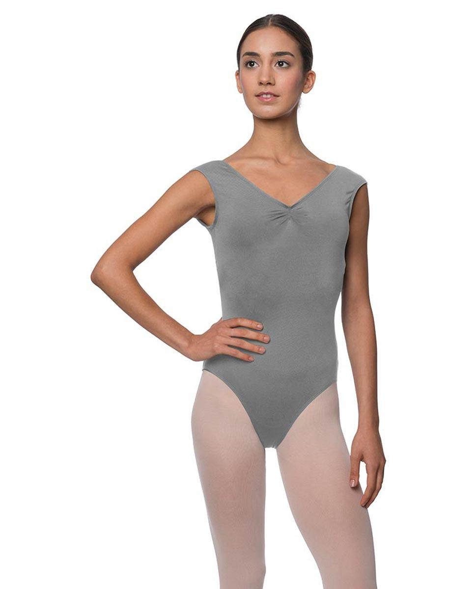 Womens Pinch Front Cap Sleeve Ballet Leotard Reyton GRE