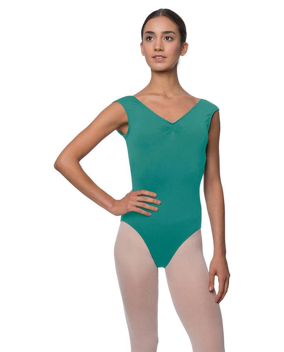 Womens Pinch Front Cap Sleeve Ballet Leotard Reyton JAD