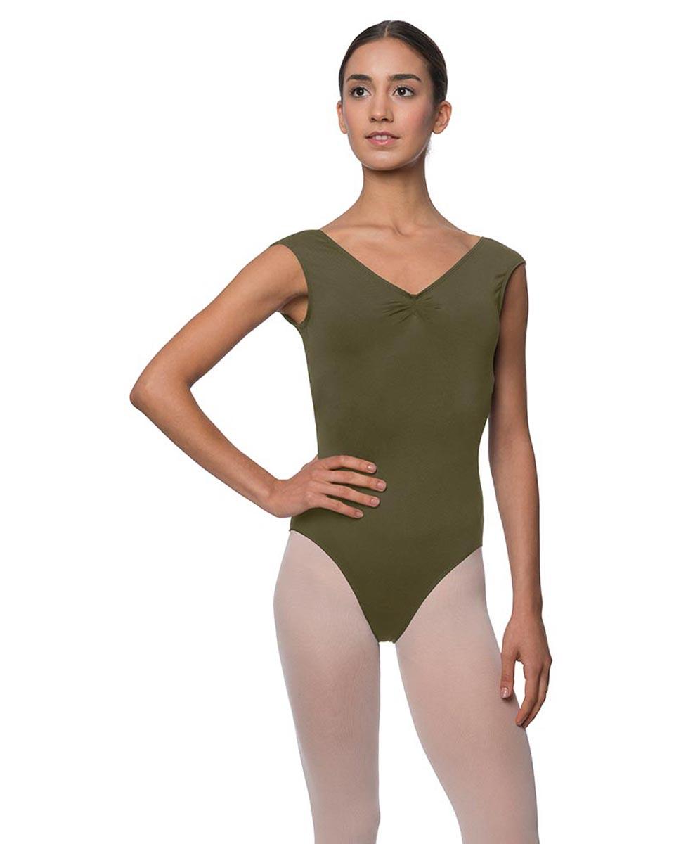 Womens Pinch Front Cap Sleeve Ballet Leotard Reyton KHA