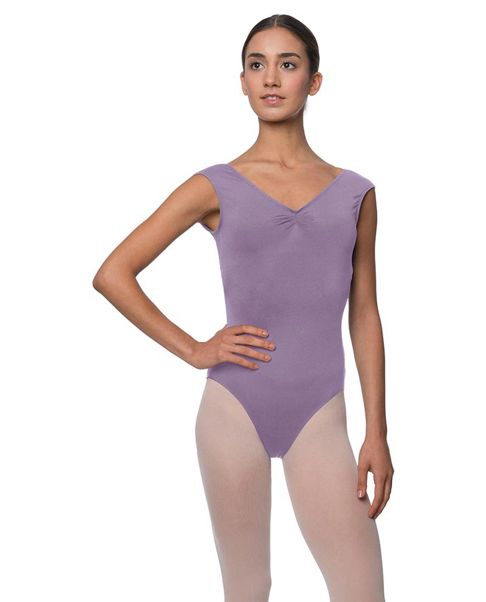 Womens Pinch Front Cap Sleeve Ballet Leotard Reyton LAV