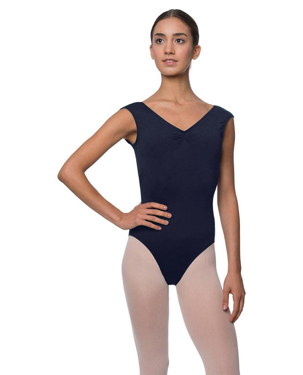 Womens Pinch Front Cap Sleeve Ballet Leotard Reyton NAY