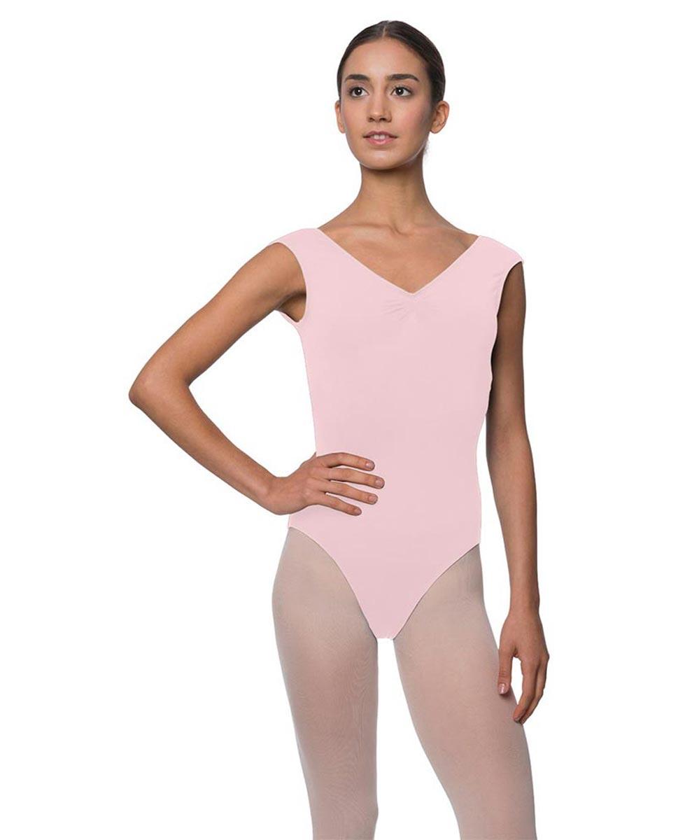 Womens Pinch Front Cap Sleeve Ballet Leotard Reyton PNK