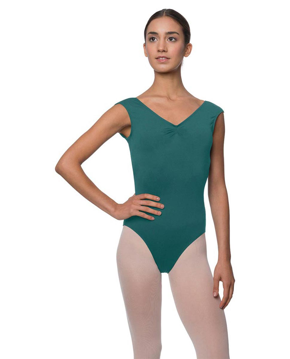 Womens Pinch Front Cap Sleeve Ballet Leotard Reyton TEA