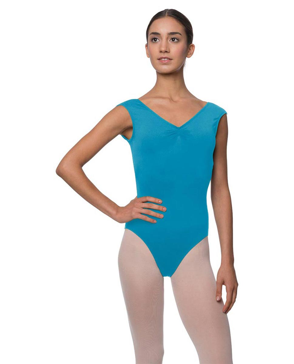 Womens Pinch Front Cap Sleeve Ballet Leotard Reyton TUR