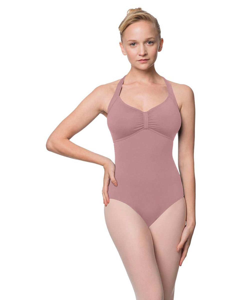 Adults Halter Open Back Dance Leotard Pearl DROS