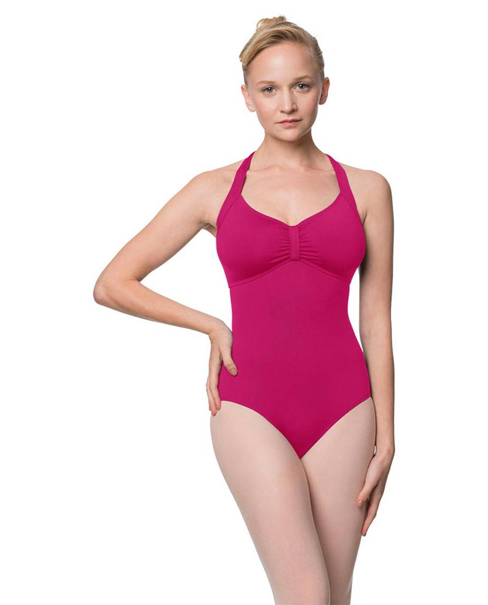 Adults Halter Open Back Dance Leotard Pearl FUC