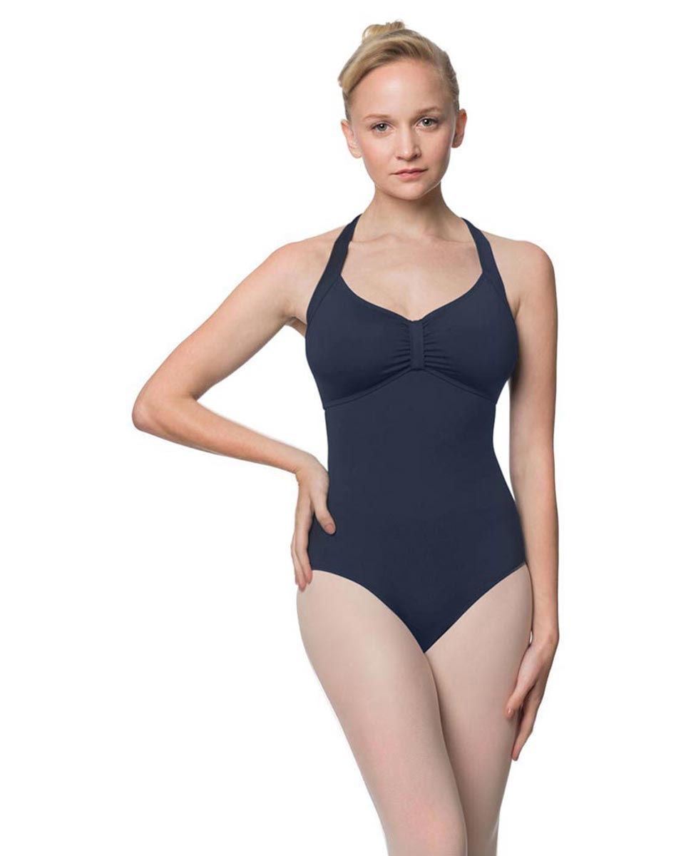 Adults Halter Open Back Dance Leotard Pearl NAY
