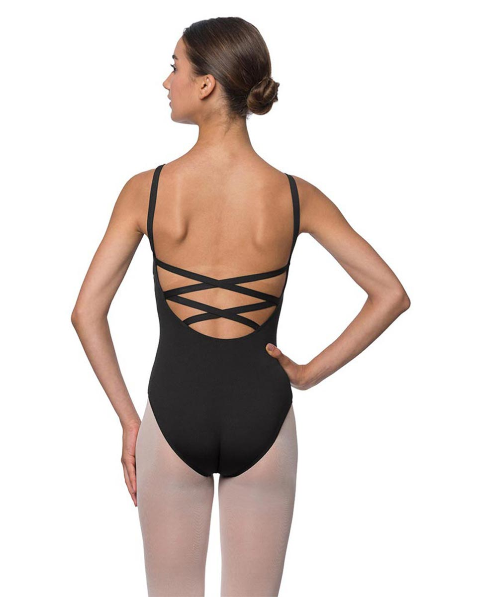 Adults Strappy Back Camisole Dance Leotard Veronica BLK