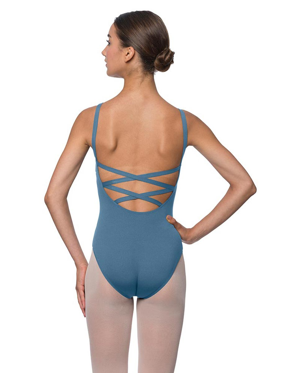 Adults Strappy Back Camisole Dance Leotard Veronica BLUE