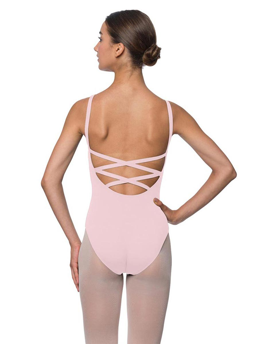 Adults Strappy Back Camisole Dance Leotard Veronica PNK