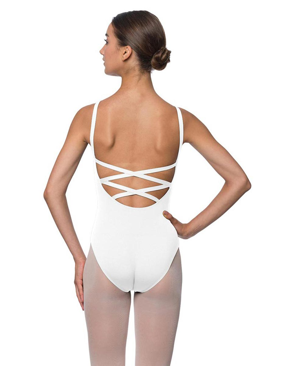 Adults Strappy Back Camisole Dance Leotard Veronica WHI