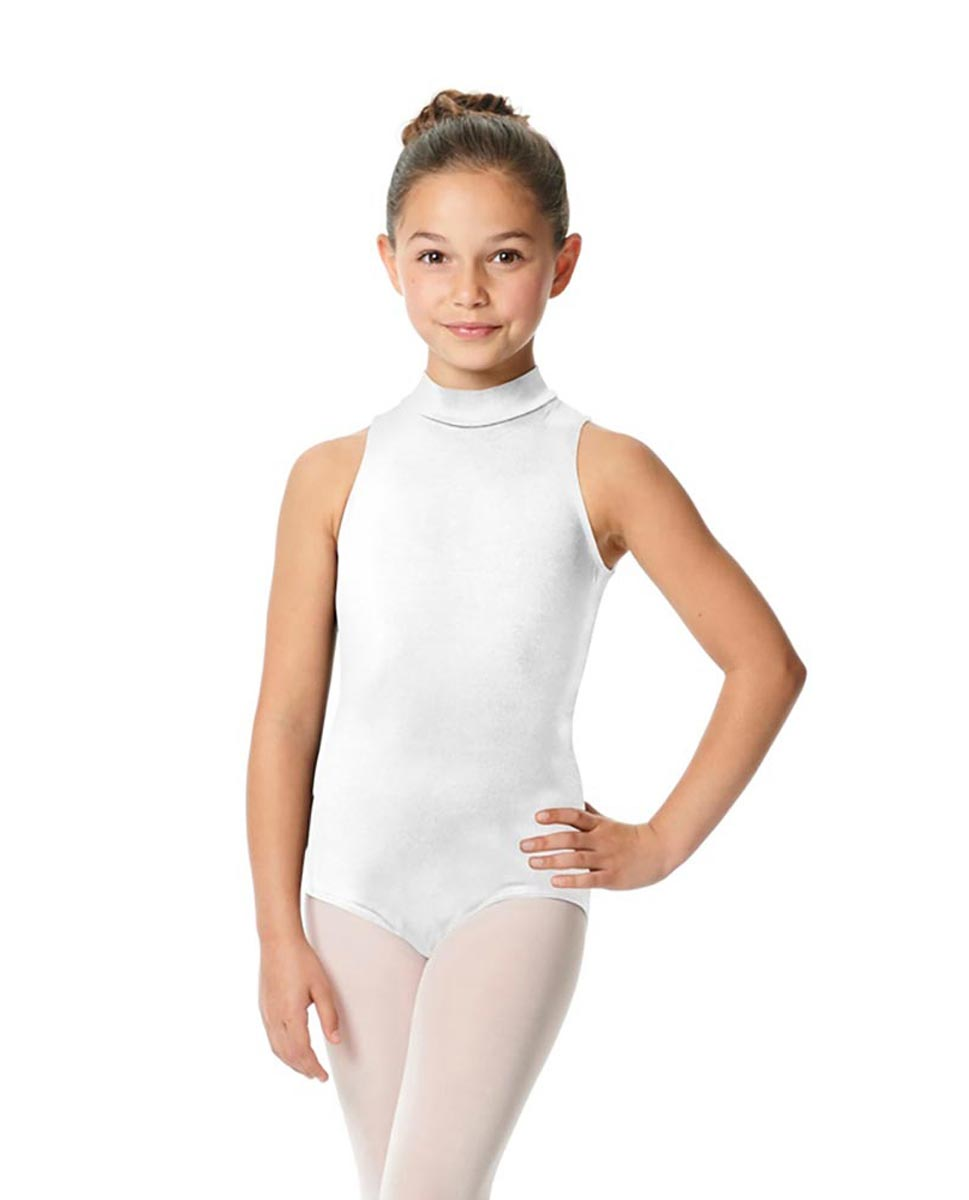 Child High Neck Dance Leotard Penelope WHI