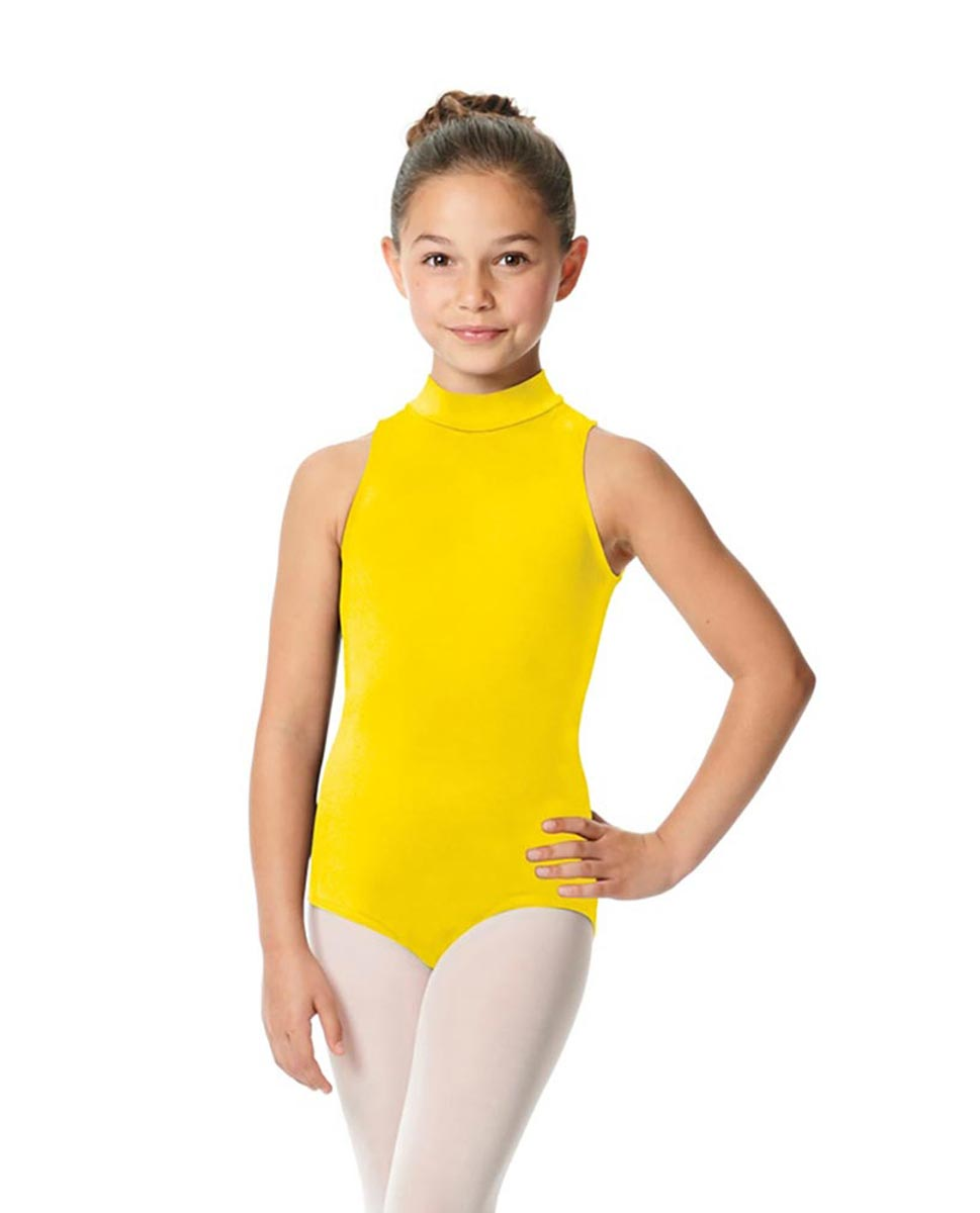 Child High Neck Dance Leotard Penelope YEL
