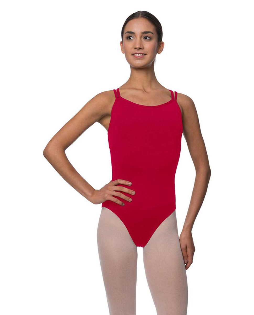 Womens Double Crossed Straps Camisole Dance Leotard Nina DRED
