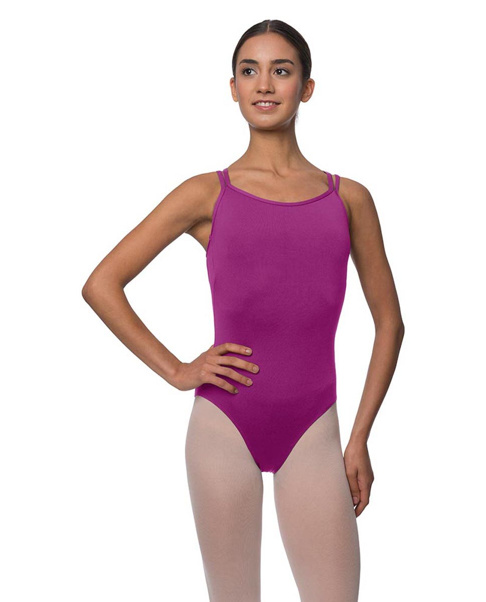 Womens Double Crossed Straps Camisole Dance Leotard Nina GRAP