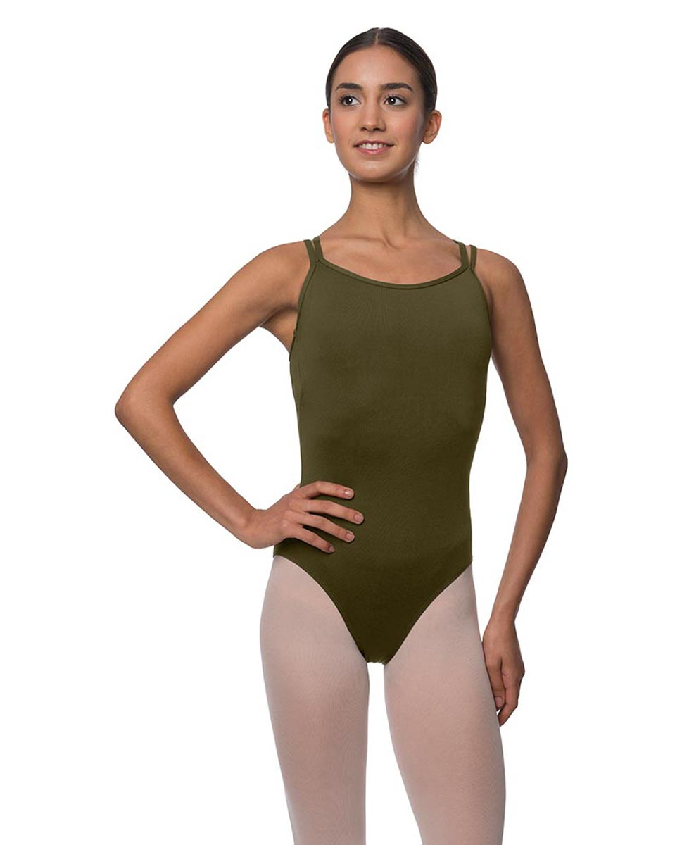 Womens Double Crossed Straps Camisole Dance Leotard Nina KHA