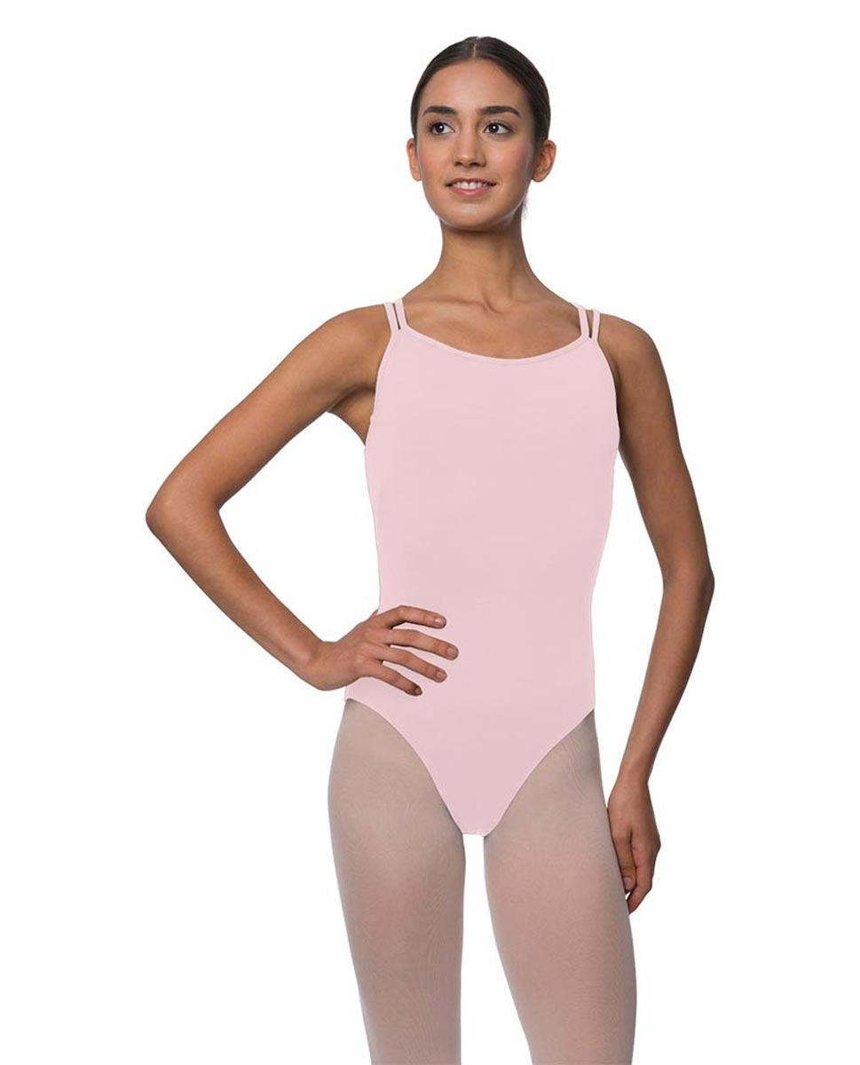 Womens Double Crossed Straps Camisole Dance Leotard Nina PNK