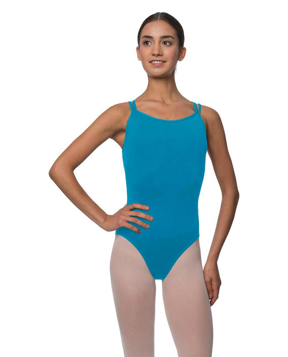 Womens Double Crossed Straps Camisole Dance Leotard Nina TUR