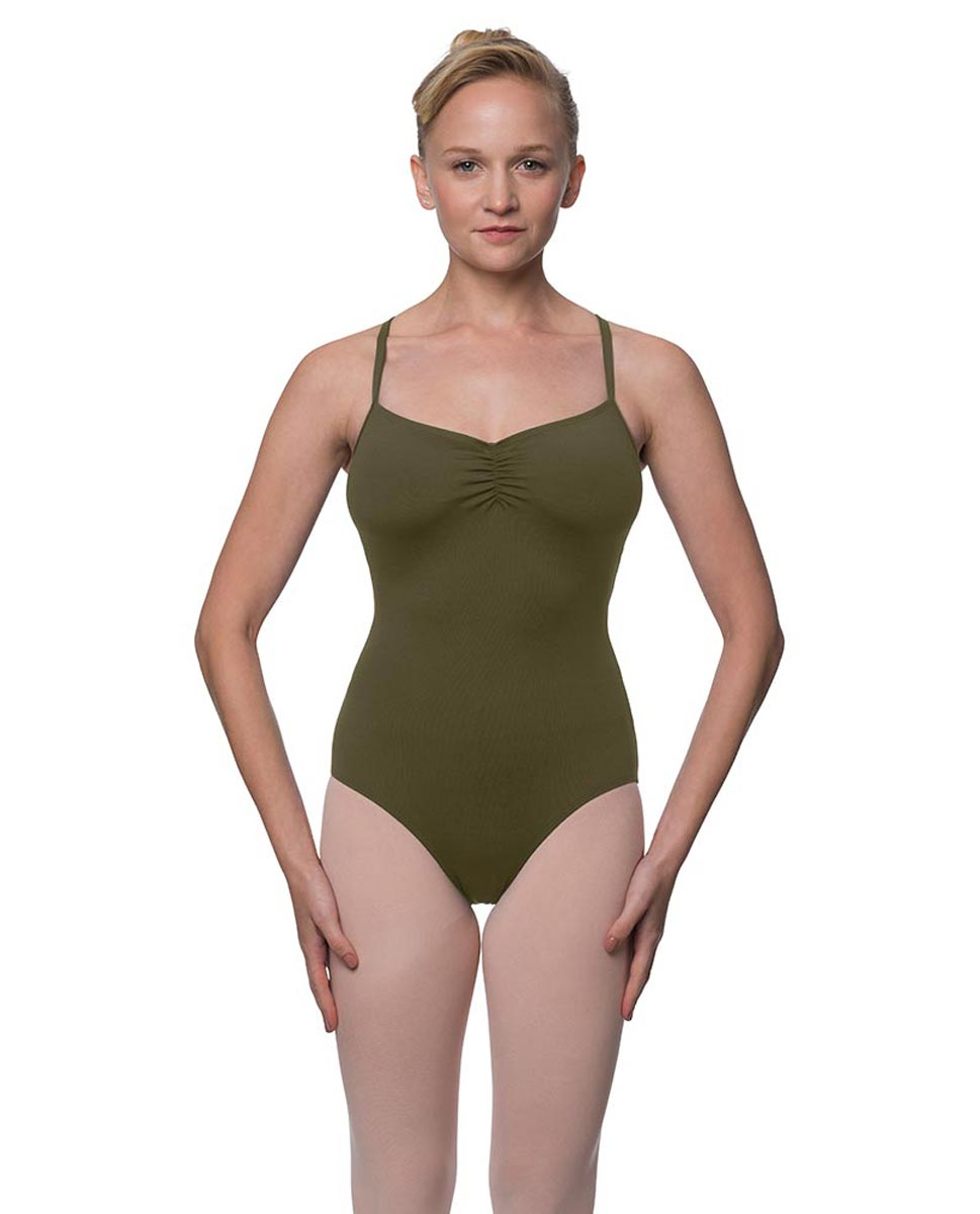 Womens Strappy Web Back Camisole Dance Leotard Paris KHA